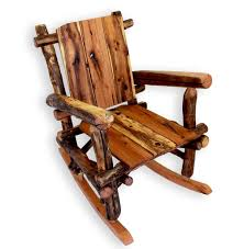 Log Cabin Furniture Rustic Rocking Chair Wood Rocker Farm House Chair Rocking Chair