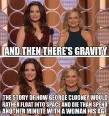 Tina Fey Meme - tina fey and amy phoeler on gravity