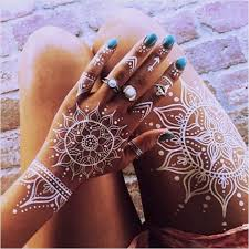 white henna tattoo on dark skin stunning white henna inspired