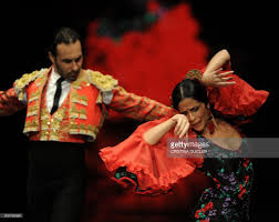 flamenco dancers cristina gallego r and jose vidal l present