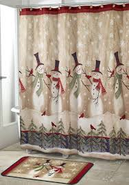 Snowman Shower Curtain Target by Cute Snowman Shower Curtain With Additional Popular Christmas