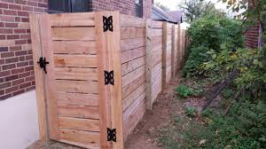 horizontal board semi privacy gate 1 the fence company llc