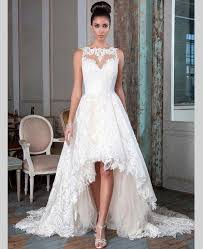 wedding dresses high front low back lace backless high low wedding dresses front back