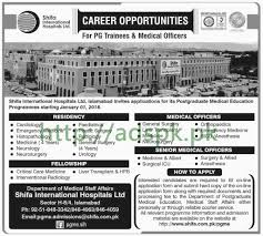 shifa international hospital limited islamabad jobs 2018 pg