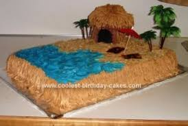 How To Make Tiki Hut Coolest Tiki Hut Beach Cake