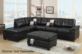 sofas center reclining sectional sofa in black bondedeather