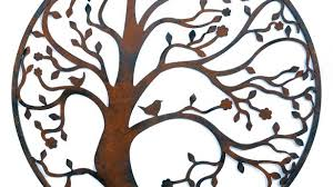 Classic Tree Charming Large Wall Decor With Metal Endearing Designs