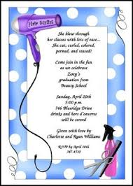 hair stylist classes beauty school cosmetology graduation announcement and invitation