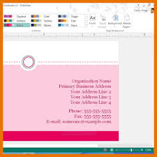 6 microsoft office business card template itinerary template sample