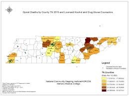 Tennessee Map Of Counties by Opioid Deaths By County Tn 2015 And Licensed Alcohol And Drug