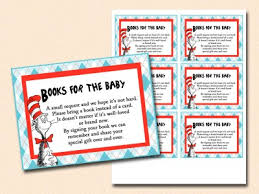 Baby Shower Instead Of A Card Bring A Book Dr Seuss Baby Shower Magical Printable