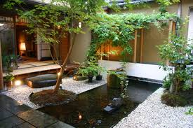 awesome fish pond design with litle garden in the midle amys office