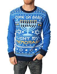 light up hanukkah sweater ugly christmas sweater men s come on baby light my menorah hanukkah
