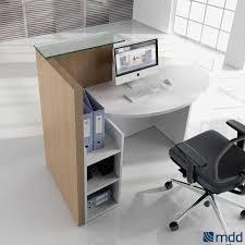 Rem Suflo Reception Desk Round Reception Desk Side View Of Custom White Curved Reception