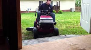 mower shed ramp fail youtube