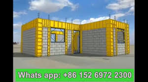 Building A Concrete Block House Build House With Concrete Hollow Blocks Laying Cement Brick