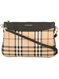burberry siege social burberry horseferry check and leather clutch bag