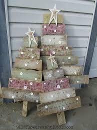 wooden christmas tree pallet wood christmas trees hometalk