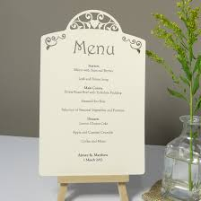 wedding menu cards vintage heart laser cut printed wedding menu card each