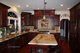 kitchen pictures cherry cabinets tuscan kitchen backsplash with cherry cabinets and rare granite