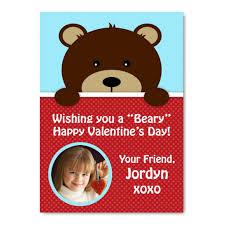 custom valentines day cards custom s day photo card teddy design you print