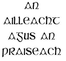 quotes it s gaelic and translates to the