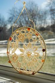 crochet suncatcher crocheted window decor home decor