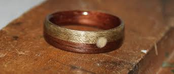 touch wood rings s touch wood ring walnut wood with greyed maple and a