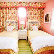 Pink Home Decor Fabric Bedroom Colorful Bedroom With Green Comfort Bed And Pink Pillows
