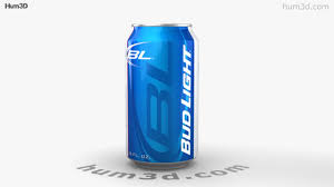 bud light beer can 360 view of budlight beer can 330 ml 3d model hum3d store