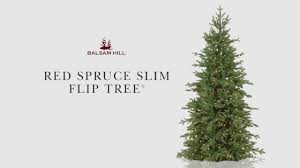 spruce slim flip tree from balsam hill
