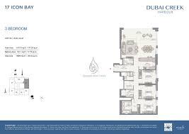 3 bedroom unit floor plans floor plan 17 icon bay 3 bedroom unit 1