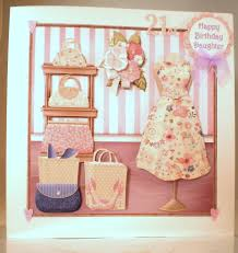 personalised handmade large birthday card daughter21st