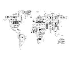 World Map Large by Wordhugs Word Map Canvas U2013 Wordhugs