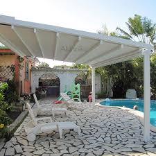 Waterproof Pergola Covers by Waterproof Aluminum Retractable Awning Sunshade Cover Buy