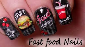 fun fast food inspired nail art tutorials burger u0026 soda 3d nail