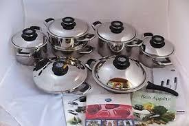 amc cuisine amc ensemble des casseroles 18 pièces secuquick staline pots de