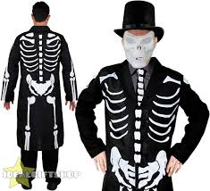 half skull mask halloween adults james bones costume mens halloween fancy dress skeleton