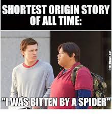 Internet Meme Origins - shortest origin story of all time was bltten by a spider meme on
