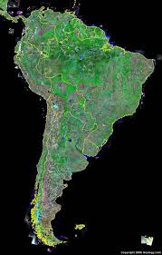 a map of south america south america map and satellite image