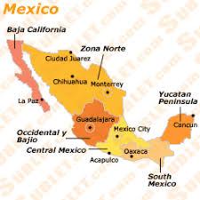 regions of mexico map mexico information rentals demographics recreation culture