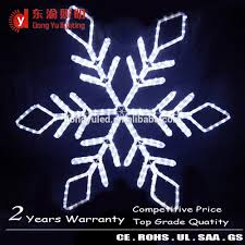 white hanging outdoor snowflakes 2d rope lights motif