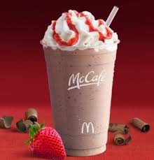 Coffe Di Mcd mcdonald s new chocolate covered strawberry frappe i m not a fan of