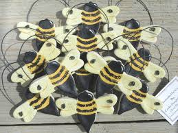 salt dough bumble bee ornaments set of 10 by cookiedoughcreations