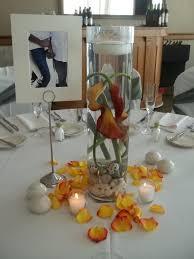 Simple Vase Centerpieces Reception Centerpieces