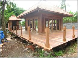 bali home decor online pretty small prefab cottage house design with modern brown wooden