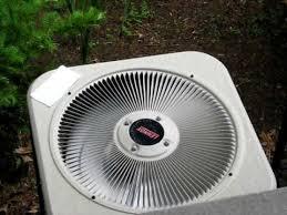 lennox condenser fan motor lennox fan motor on outside ac unit reverses itself youtube