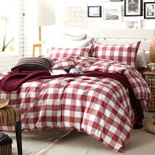 Duvet Covers Plaid Red Cotton Twin Bedspread Red Plaid Twin Comforter Sets Michael