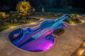 Pool Landscape Lighting Ideas Outdoor Pool Landscape Lighting By Nj Landscape Architecture