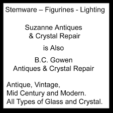 antique glass l repair suzanne antiques crystal repair antiques 3411 n dixie hwy